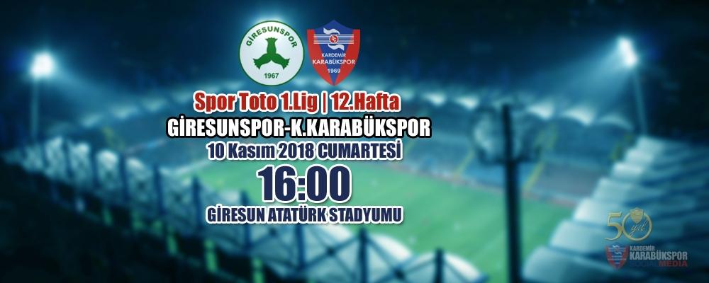 Spor Toto 1.Lig 12.Hafta Rakibimiz: Giresunspor