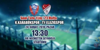 Spor Toto 1.Lig 23.Hafta Rakibimiz: TY Elazığspor