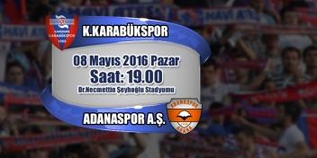PTT 1.Lig 33.Hafta Rakip: Adanaspor A.Ş.