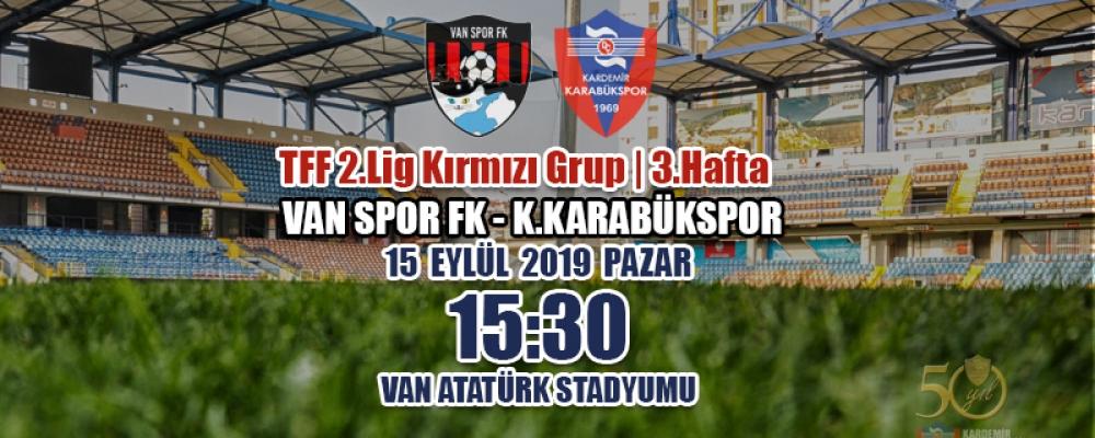 TFF 2.Lig Kırmızı Grup 3.Hafta Rakibimiz: Van Spor FK